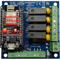 Creasol DomESP1: Input/output/supply board for ESP8266 module