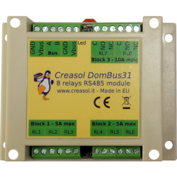 Creasol DomBus31: 8 relays...