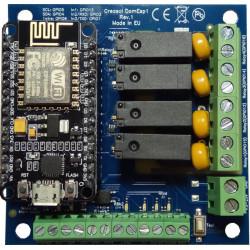 Creasol DomESP1: Input/output/supply board for ESP8266 module