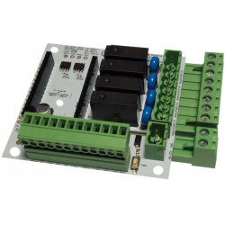 DomESP2 board with 2 plugins terminal blocks unplugged