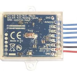 Creasol SenderBatt: 4-channel duplicateur / émetteur de télécommande multifréquence stationnaire