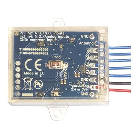 Creasol SenderBatt: duplicatore / trasmettitore di telecomando multifrequenza a 4 canali