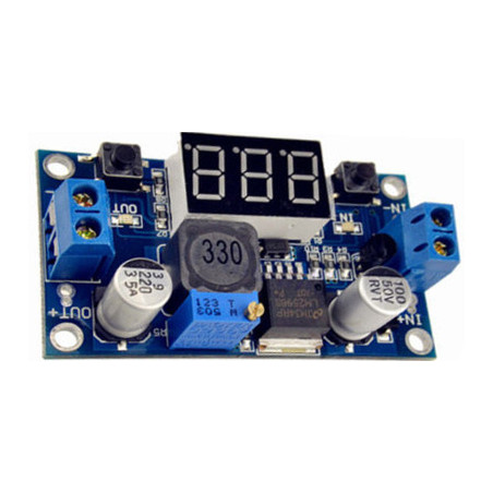 Switching voltage regulator with LM2596S with display